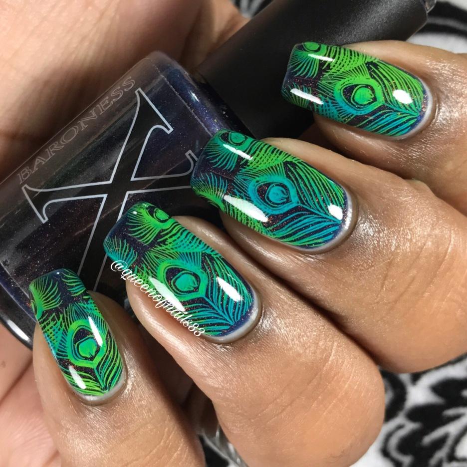 Anthracite w/ nail art