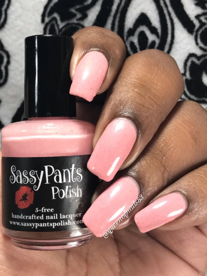 Sassy Pant Polish - Save the Ta-Tas w/ glossy tc