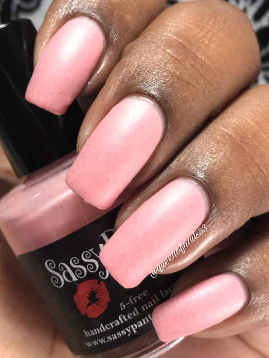 Sassy Pant Polish - Save the Ta-Tas w/ matte tc