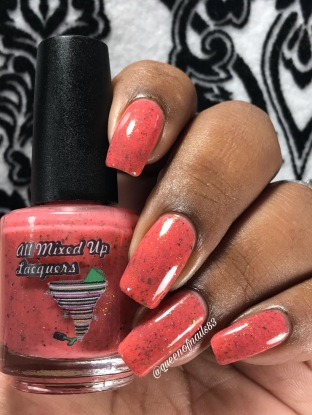 All Mixed Up Lacquers - Fight Strong w/ glossy tc