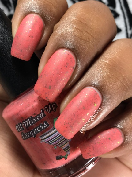 All Mixed Up Lacquers - Fight Strong w/ matte tc