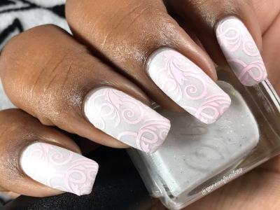 CbL - I Love Boobies w/ nail art