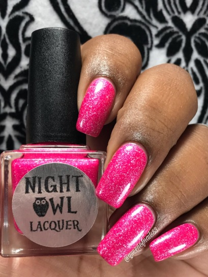 Night Owl Lacquer - Save the Hooters w/ glossy tc