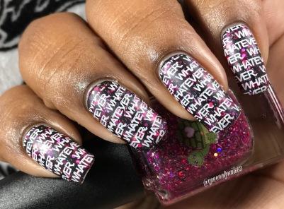 Libra w/ nail art
