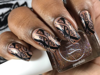 Fall into Zen: The Holos - Mocha Mantra w/ nail art
