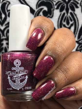 """Anchor & Heart - """"Crushing On Cranberry"""" w/ glossy tc"""