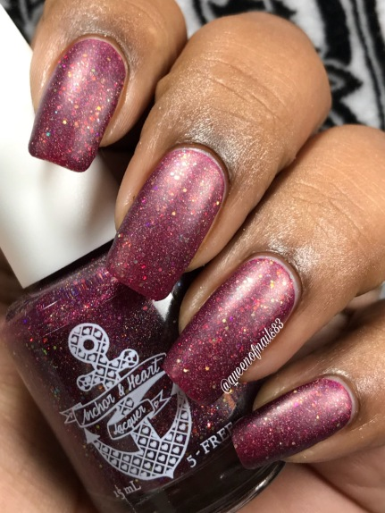 """Anchor & Heart - """"Crushing On Cranberry"""" w/ matte tc"""