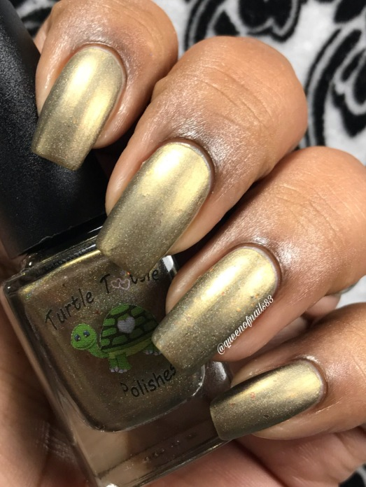 "Turtle Tootsie Polishes - ""Scattered Leaves"" w/ matte tc"