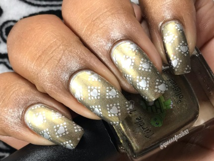"""Turtle Tootsie Polishes - """"Scattered Leaves"""" w/ nail art"""