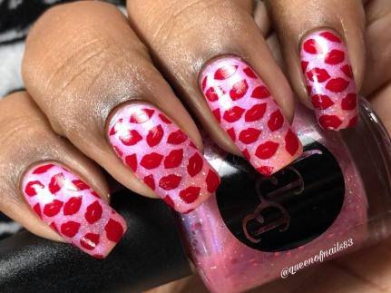 Pink Sky at Night w/ nail art