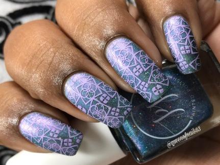 HHC - Blushing Blizzard w/ nail art