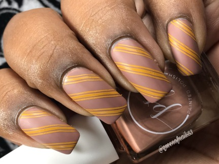 Fall into Zen: The Cremes - Stamped in Mocha w/ nail art