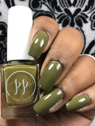 Fall into Zen: The Cremes - Stamped in Moss w/ glossy tc