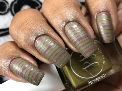 Fall into Zen: The Cremes - Stamped in Moss w/ nail art