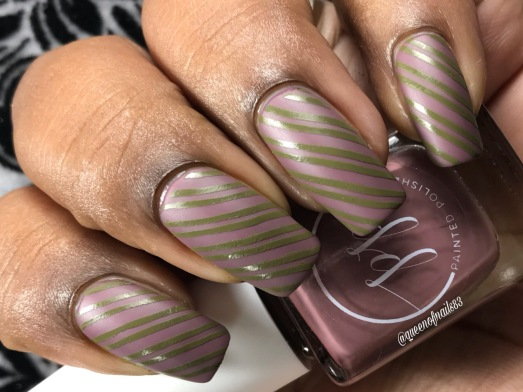 Fall into Zen: The Cremes - Stamped in Mulberry w/ nail art