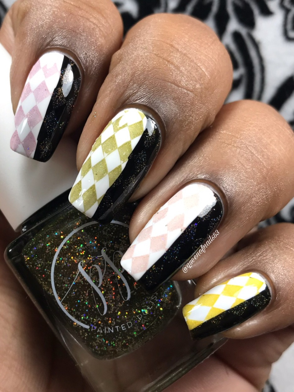 Fall into Zen: The Holos - Stamped over black and white