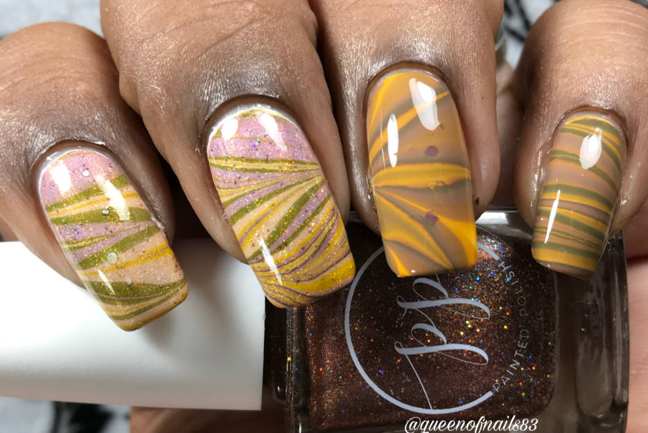 Fall into Zen: The Holos & Cremes - watermarbled over white