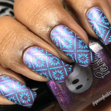 Deadly Nightshade w/ nail art