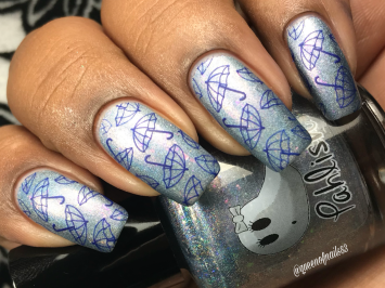 Ride With the Moon w/ nail art