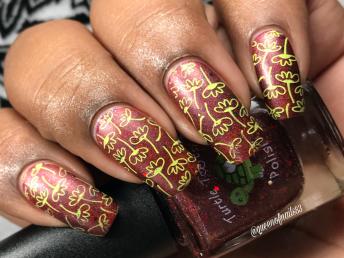 Turtle Tootsie Polishes - DP w/ nail art