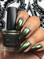 Night Owl Lacquer - Battle of Hogwarts w/ glossy tc