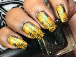 Night Owl Lacquer - Battle of Hogwarts w/ nail art