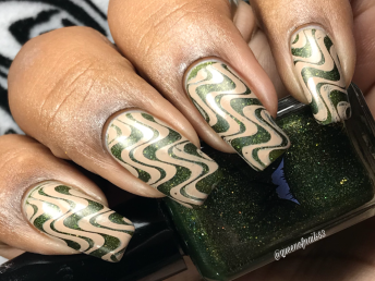 Smokey Mountain Lacquers - Flying High w/ nail art