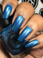 Moon Shine Mani - The Department of Mysteries w/ matte tc