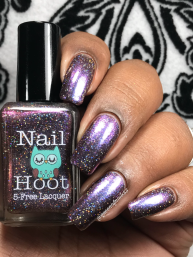 Nail Hoot - I Do Hope I'm Interrupting Something w/ glossy tc