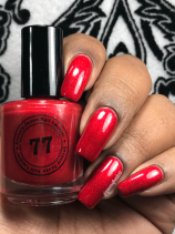 Seventy Seven Nail Lacquer - Nowhere... Fast. And You're Not Coming w/ glossy tc