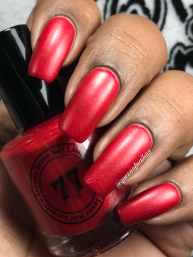 Seventy Seven Nail Lacquer - Nowhere... Fast. And You're Not Coming w/ matte tc