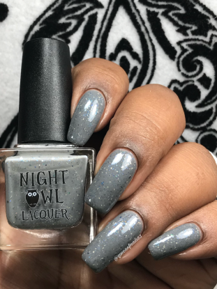 Night Owl Lacquer - Don't Sugar Coat It w/ glossy tc