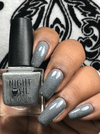Night Owl Lacquer - Don't Sugar Coat It w/ glossy tc