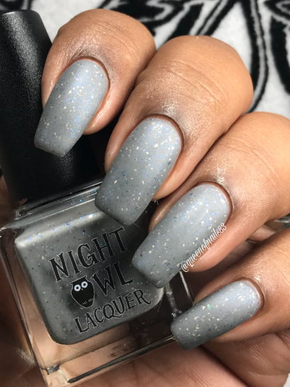 Night Owl Lacquer - Don't Sugar Coat It w/ matte tc