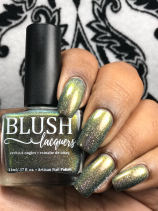 BLUSH Lacquers - Bane of my Existence w/ glossy tc