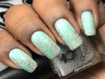 Opal w/ nail art