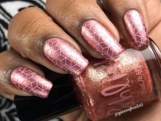 Five Rose Gold Rings w/ nail art