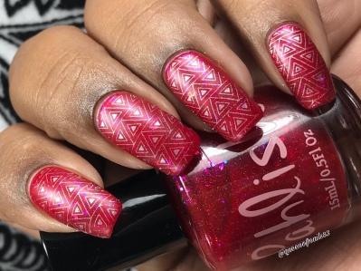 Nine Ladies Dancing w/ nail art