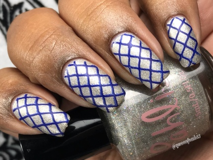 Ten Lords a Leaping w/ nail art