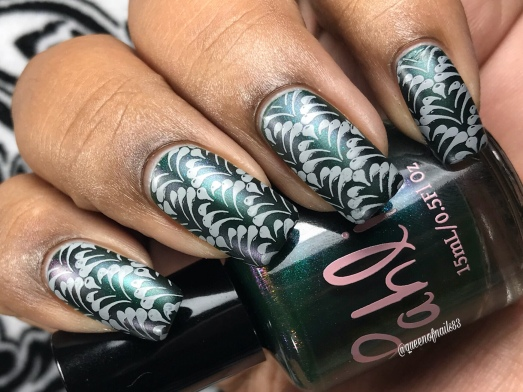Eleven Pipers Piping w/ nail art