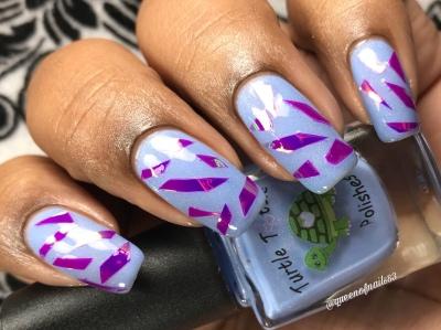Blue Topaz - w/ nail art