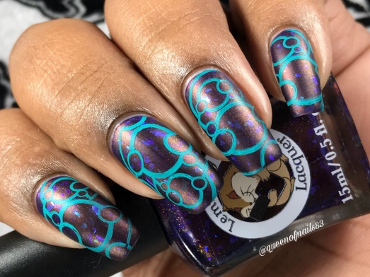 Lemming Lacquer - Ghosts of the Vault - w/ nail art