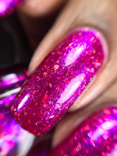 Great Lakes Lacquer - Dragon's Breath Fire Opal - macro