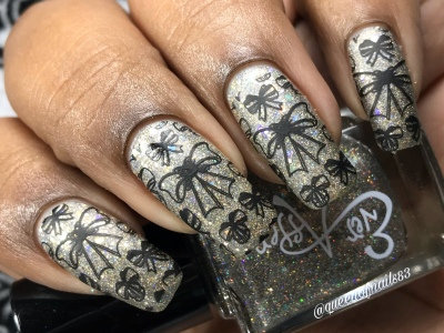 Champagne Kisses - w/ nail art