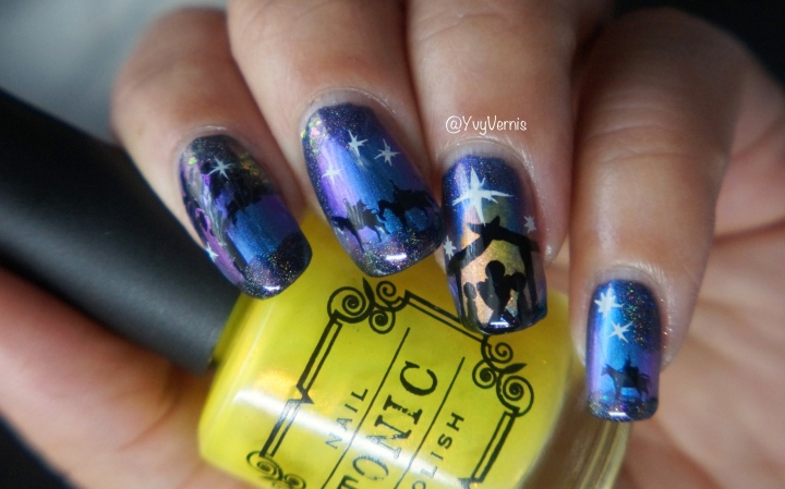 Guest Blogger: Yvette Price of YvyVernis – Nativity Scene Nail Art