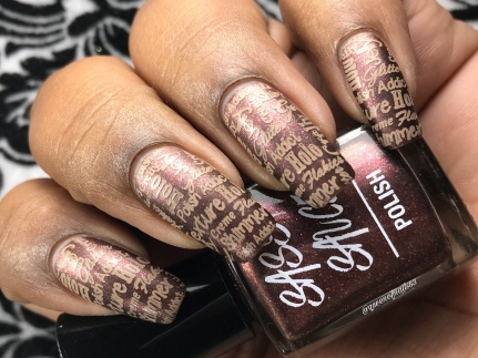 Choco'lit Covered Cherry - w/ nail art