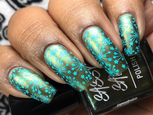 A Forest Borealis - w/ nail art