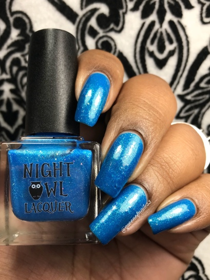 Night Owl Lacquer - You Are Not Alone w/ glossy tc