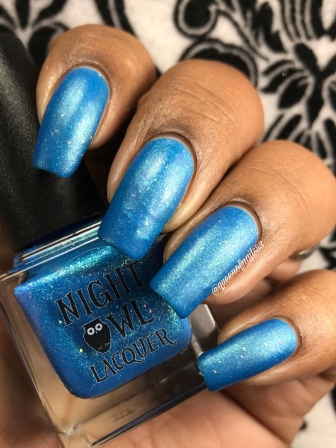 Night Owl Lacquer - You Are Not Alone w/ matte tc