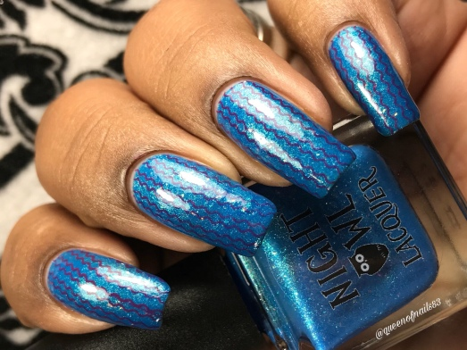 Night Owl Lacquer - You Are Not Alone w/ nail art